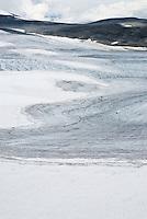 Mountains and glaciers of Jotunheimen national park near Spiterstulen, Norway