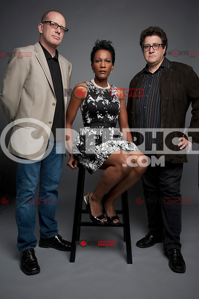 Executive Producer David Zellerford, Executive Producer Yvette Johnson and Director Raymond De Felitta pose at the Bookers Place Portrait Session During the 2012 Tribeca Film Festival in New York City. April 21, 2012. © Derek Reed/MediaPunch Inc. ***Premium Rates Only***