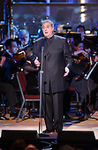 "Placido Domingo performs during the taping of the ""Concert for America"" at the John F. Kennedy Center for the Performing Arts in Washington on September 9, 2002..Credit: Ron Sachs / CNP."