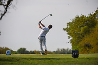 Chase Wright (USA) watches his tee shot on 2 during day 2 of the Valero Texas Open, at the TPC San Antonio Oaks Course, San Antonio, Texas, USA. 4/5/2019.<br /> Picture: Golffile | Ken Murray<br /> <br /> <br /> All photo usage must carry mandatory copyright credit (&copy; Golffile | Ken Murray)