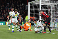 Onel Hernandez of Norwich City gets a challenge in on Marc Pugh of Bournemouth during AFC Bournemouth vs Norwich City, Caraboa Cup Football at the Vitality Stadium on 30th October 2018