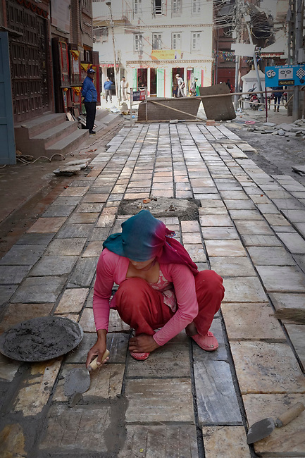 Repair road near Kathmandu, Nepal