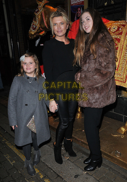 Isabella Wallington, Tina Hobley &amp; Olivia Wheeler attend the &quot;Bend It Like Beckham&quot; charity gala performance in aid of the Gynaecological Cancer Fund, Phoenix Theatre, Charing Cross Road, London, England, UK, on Friday 27 November 2015.<br /> CAP/CAN<br /> &copy;Can Nguyen/Capital Pictures