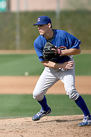 Justin Bristow of the Chicago Cubs participates in spring training workouts at the Cubs complex on March 6, 2011  in Mesa, Arizona. .Photo by:  Bill Mitchell/Four Seam Images.