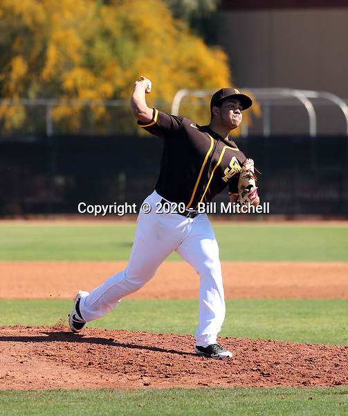 Luarbert Arias - San Diego Padres 2020 spring training (Bill Mitchell)