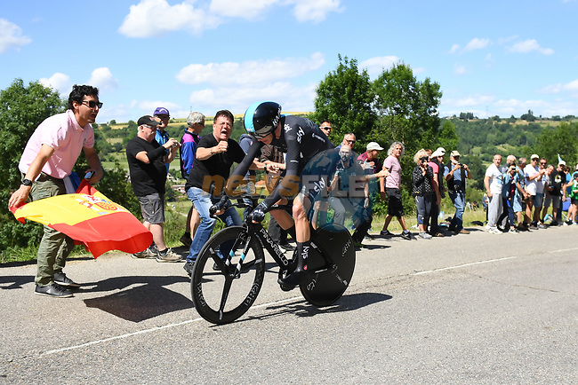 Chris Froome (GBR) Team Sky in action during Stage 4 of the Criterium du Dauphine 2017, an individual time trial running 23.5km from La Tour-du-Pin to Bourgoin-Jallieu, France. 7th June 2017. <br /> Picture: ASO/A.Broadway | Cyclefile<br /> <br /> <br /> All photos usage must carry mandatory copyright credit (&copy; Cyclefile | ASO/A.Broadway)