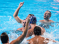 Team SERBIA gold medal<br /> CROATIA vs SERBIA<br /> CRO vs SRB<br /> Waterpolo - Men's final <br /> Day 16 08/08/2015<br /> XVI FINA World Championships Aquatics Swimming<br /> Kazan Tatarstan RUS July 24 - Aug 9 2015 <br /> Photo Giorgio Perottino/Deepbluemedia/Insidefoto