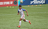 Portland, OR - Saturday August 12, 2017: Jaylin Lindsey during friendly match between the USMNT U17's and Chile u17's at Providence Park in Portland, OR.