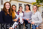 Oonagh Ní Bhrosnacháin, Vanessa Piwowarczyk, Niamh Ní Churtain, Róisín Ní Churraí, and Emer Ní Dhuinnín,students at Gaelcholáiste Chairraí who got the Junior Certificate results on Wednesday.