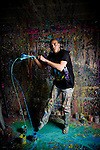 Artist David Garibaldi in his West Sacramento, CA studio.