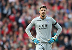 Crystal Palace's Wayne Hennessey looks on dejected during the premier league match at the Anfield Stadium, Liverpool. Picture date 19th August 2017. Picture credit should read: David Klein/Sportimage