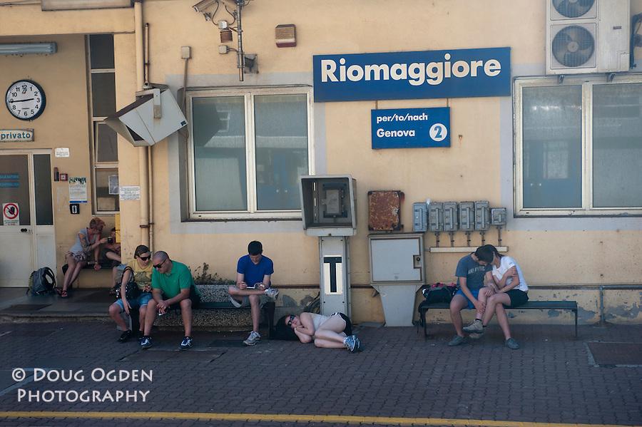 Riomaggiore train stations, Cinque Terre, Italy