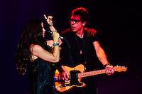 ATENCAO EDITOR: FOTO EMBARGADA PARA VEICULOS INTERNACIONAIS. - RIO DE JANEIRO, RJ, 07 DE SETEMBRO 2012 - SHOW-ALANIS MORISSETTE - Show da cantora Alanis Morissete, nesta sexta feira, 7 de setembro, no Citibak Hall, na Barra da Tijuca, zona oeste do Rio de Janeiro.(FOTO: MARCELO FONSECA / BRAZIL PHOTO PRESS).