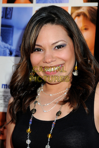 "GLORIA GARAYUA.""Mother and Child"" Los Angeles Premiere held at Grauman's Egyptian Theatre, Hollywood, California, USA..April 19th, 2010.headshot portrait smiling black  silver necklaces .CAP/ADM/BP.©Byron Purvis/AdMedia/Capital Pictures."
