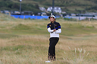 Phachara Khongwatmai (THA) on the 1st during Round 1 of the Dubai Duty Free Irish Open at Ballyliffin Golf Club, Donegal on Thursday 5th July 2018.<br /> Picture:  Thos Caffrey / Golffile