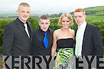 Peter Nammock, Anthony Gleeson, Clodagh Higgins and Matt Moloney pictured at the Pres Tralee debs in Ballyroe Heights Hotel on Wednesday, August 8th..