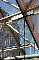 Vancouver: Law Courts. Detail of glass ribs. Photo '86.