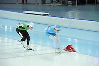 SPEEDSKATING: SOCHI: Adler Arena, 19-03-2013, Training, Jan Blokuijsen (NED), Maurice Vriend (NED), © Martin de Jong
