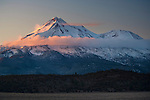 Morning light on Mount Shasta, California
