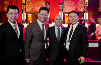 Dreamworks Animation president Jeffrey Katzenberg with Chinese economic partners in Beijing, June 25 2013.