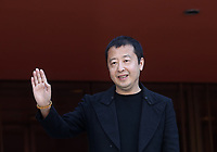 Il regista cinese Jia Zhangke posa durante un red carpet alla 14^ Festa del Cinema di Roma all'Aufditorium Parco della Musica di Roma, 26 ottobre 2019.<br /> Chinese director Jia Zhangke poses on a red carpet  during the 14^ Rome Film Fest at Rome's Auditorium, on 26 October 2019.<br /> UPDATE IMAGES PRESS/Isabella Bonotto
