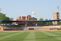 Durham Athletic Park, former home of the Durham Bulls and currently used for amateur baseball on May 7, 2010 in Durham, North Carolina.  Photo By Tony Farlow/Four Seam Images