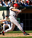 Steve Finley of the Los Angeles Angels in action against the Chicago White Sox. ....Angels lost 4-5.....David Durochik / SportPics..