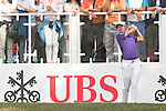 David Lipsky of USA tees off the first hole during the 58th UBS Hong Kong Golf Open as part of the European Tour on 11 December 2016, at the Hong Kong Golf Club, Fanling, Hong Kong, China. Photo by Vivek Prakash / Power Sport Images