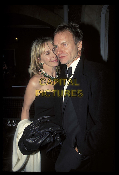 TRUDI STYLER & STING.12 March 2001.Ref: 10727.married, half length, half-length.*RAW SCAN- photo will be adjusted for publication*.www.capitalpictures.com.sales@capitalpictures.com.©Capital Pictures