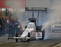 Apr 21, 2018; Baytown, TX, USA; NHRA top fuel driver Antron Brown during qualifying for the Springnationals at Royal Purple Raceway. Mandatory Credit: Mark J. Rebilas-USA TODAY Sports