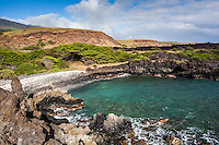 A small cove on the south shore of Maui