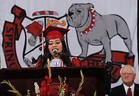 NWA Democrat-Gazette/ANDY SHUPE<br /> Saturday, May 20, 2017, during commencement exercises for Springdale High School in Bud Walton Arena on the University of Arkansas campus in Fayetteville. Visit nwadg.com/photos to see more photographs from the ceremony.