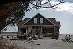 New Jersey, United States. 25th Feb, 2013 -- A home destroyed almost 4 months ago by Sandy Storm is seen at Jersey Shore in New Jersey. Photo by Kena Betancur / VIEWpress.