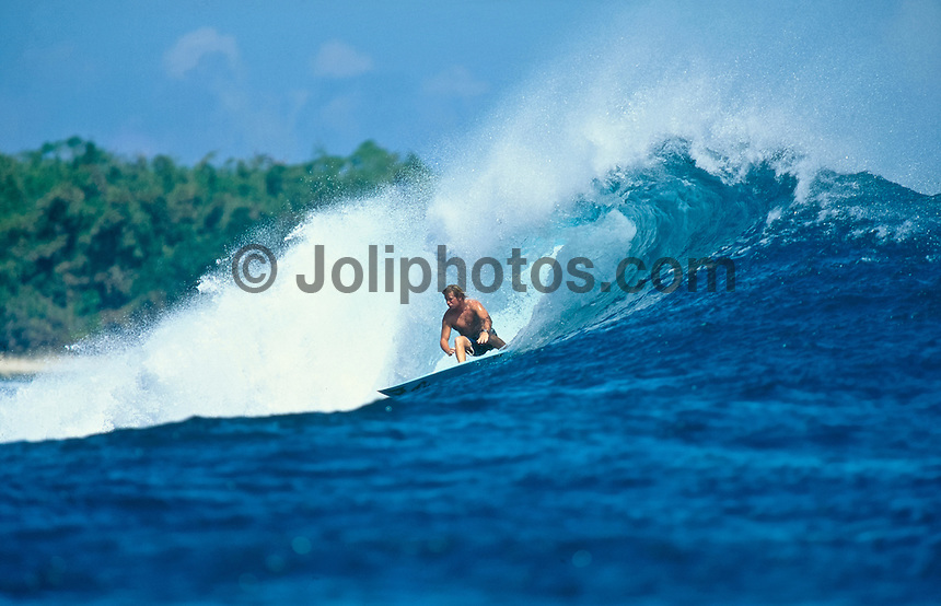 Mick Lowe (AUS)Surfing at G-Land Indonesia on the East Coast of Java, Indonesia.photo:  joliphotos.com