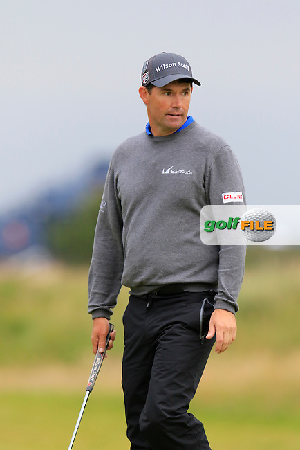 Padraig HARRINGTON (IRL) lines up his putt on the 17th green during Monday's Final Round of the 144th Open Championship, St Andrews Old Course, St Andrews, Fife, Scotland. 20/07/2015.<br /> Picture Eoin Clarke, www.golffile.ie