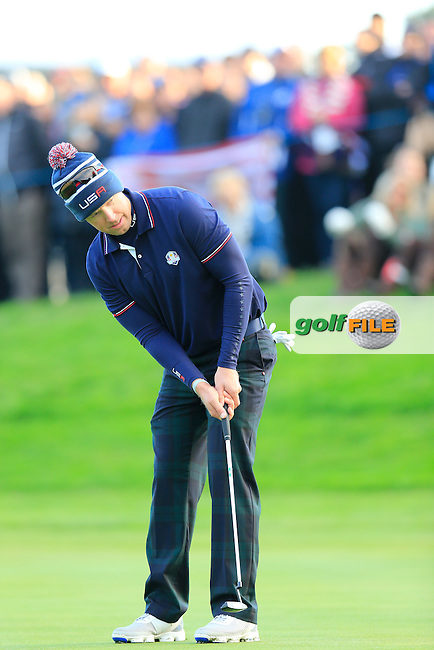 Hunter Mahan (USA) during the Saturday morning Fourballs of the 2014 Ryder Cup at Gleneagles. The 40th Ryder Cup is being played over the PGA Centenary Course at The Gleneagles Hotel, Perthshire from 26th to 28th September 2014.: Picture Eoin Clarke, www.golffile.ie / www.golftouri,ages.com: \27/09/2014\
