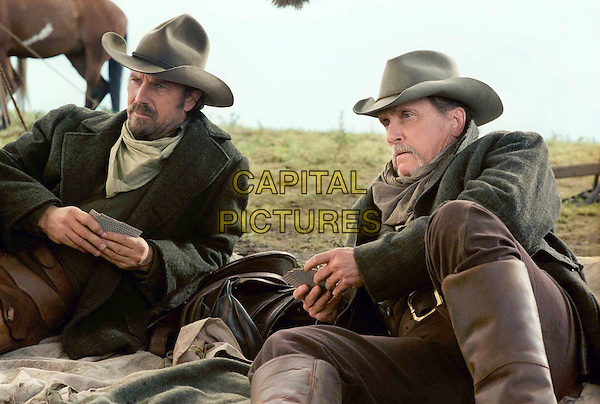 KEVIN COSTNER.ROBERT DUVALL.in Open Range.Filmstill - Editorial Use Only.Ref: FB.sales@capitalpictures.com.www.capitalpictures.com.Supplied by Capital Pictures.