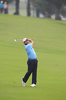 Alexander Levy (Europe) on the 4th fairway during the Saturday Foursomes of the Eurasia Cup at Glenmarie Golf and Country Club on the 13th January 2018.<br /> Picture:  Thos Caffrey / www.golffile.ie
