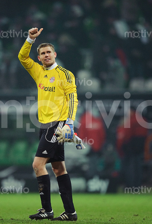 Fussball Bundesliga Saison 2010/2011 SV Werder Bremen - FC Bayern Muenchen Thomas KRAFT (FC Bayern).