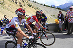 Zdenek Stybar (CZE) Quick-Step Floors and Thomas De Gendt (BEL) Lotto-Soudal climb Col d'Izoard during Stage 18 of the 104th edition of the Tour de France 2017, running 179.5km from Briancon to the summit of Col d'Izoard, France. 20th July 2017.<br /> Picture: Eoin Clarke | Cyclefile<br /> <br /> All photos usage must carry mandatory copyright credit (&copy; Cyclefile | Eoin Clarke)
