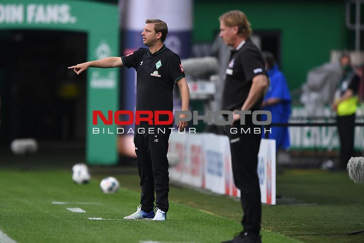 Trainer Florian Kohfeld (Werder Bremen), im Vordergrund Trainer Markus Gisdol (1. FC Koeln).<br /><br />Sport: Fussball: 1. Bundesliga:: nphgm001: : nphgm001:  Saison 19/20: 34. Spieltag: SV Werder Bremen - 1. FC Koeln, 27.06.2020<br /><br />Foto: Marvin Ibo GŸngšr/GES/Pool/via gumzmedia/nordphoto/via gumzmedia/nordphoto