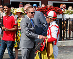 Dominant Strategy  (no. 5) wins Race 5, Sep. 3, 2018 at the Saratoga Race Course, Saratoga Springs, NY.  Ridden by Jose Ortiz., and trained by Chad Brown, Dominant Strategy  finished  a head in front of Kulin Rock (no. 9).  (Bruce Dudek/Eclipse Sportswire)