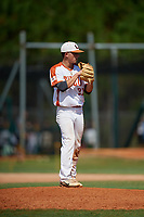 Dante Ciaramella during the WWBA World Championship at the Roger Dean Complex on October 20, 2018 in Jupiter, Florida.  Dante Ciaramella is a right handed pitcher from Eatontown, New Jersey who attends Monmouth Regional High School and is committed to Monmouth.  (Mike Janes/Four Seam Images)