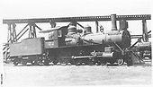 3/4 engineer's-side view of Colorado Midland #22 stored at Colorado Springs<br /> Colorado Midland  Colorado Springs, CO  Taken by Perry, Otto C. - 7/1918