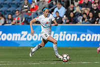 Bridgeview, IL - Saturday April 22, 2017: Shea Groom during a regular season National Women's Soccer League (NWSL) match between the Chicago Red Stars and FC Kansas City at Toyota Park.