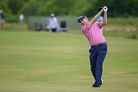 Russell Knox (IRL) hits his approach shot on 1 during round 4 of the AT&T Byron Nelson, Trinity Forest Golf Club, at Dallas, Texas, USA. 5/20/2018.<br /> Picture: Golffile | Ken Murray<br /> <br /> All photo usage must carry mandatory copyright credit (© Golffile | Ken Murray)