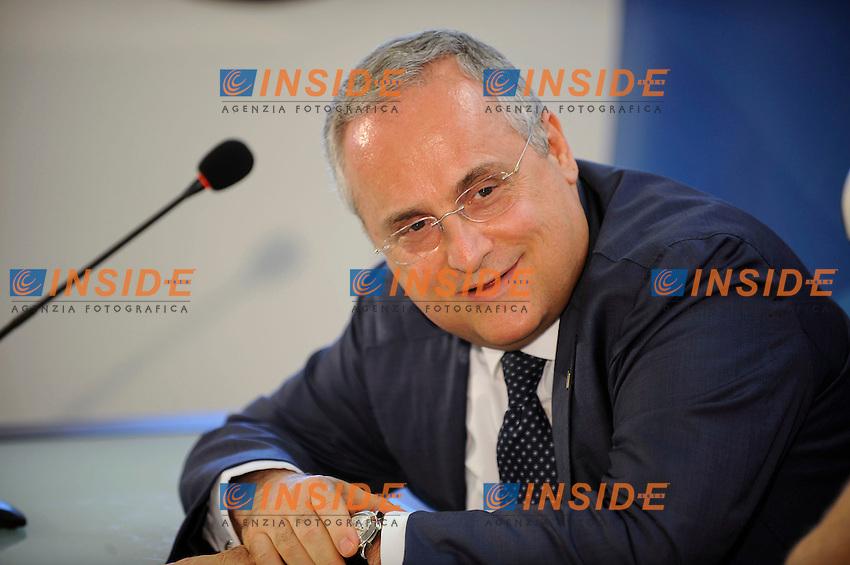 09 07 2016 Roma<br /> Conferenza stampa Lazio su dimissioni Marcelo Bielsa<br /> nella foto Claudio Lotito<br /> Foto Marco Rosi/Fotonotizia/Insidefoto