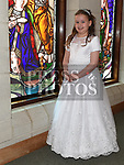 Ava Hanan from Donacarney school who recieved first holy communion in the Star of the Sea church Mornington. Photo:Colin Bell/pressphotos.ie