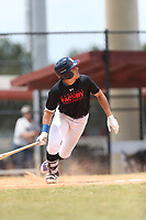 Wendell Marrero (72) of Puerto Rico Baseball Academy in Dorado, Puerto Rico during the Under Armour Baseball Factory National Showcase, Florida, presented by Baseball Factory on June 12, 2018 the Joe DiMaggio Sports Complex in Clearwater, Florida.  (Nathan Ray/Four Seam Images)