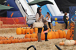 October 9th 2012 <br /> <br /> <br /> Kyle Richards at the Mr. Bones Pumpkin patch in West Hollywood California.  Carrying a Chanel hand bag purse and brown suede wedged boots &amp; scarf. Kyle's daughter Portia Umansky was wearing a pirate jacket with a white painted cat face <br /> <br /> AbilityFilms@yahoo.com<br /> 805 427 3519<br /> www.AbilityFilms.com